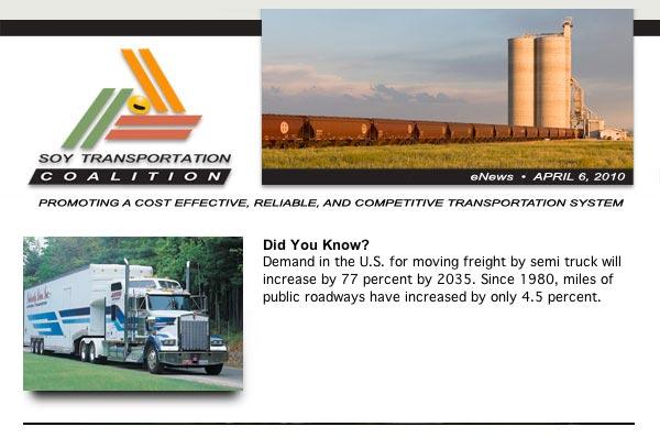Soy Transportation Coalition eNews - April 6, 2010