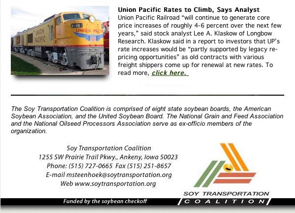 Soy Transportation Coalition eNews - April 6, 2020
