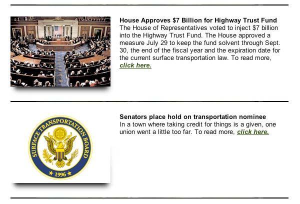 August 7, 2009, Soy Transportation Coalition eNews
