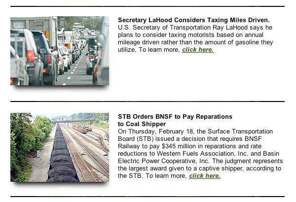 February 2009, Soy Transportation Coalition eNews