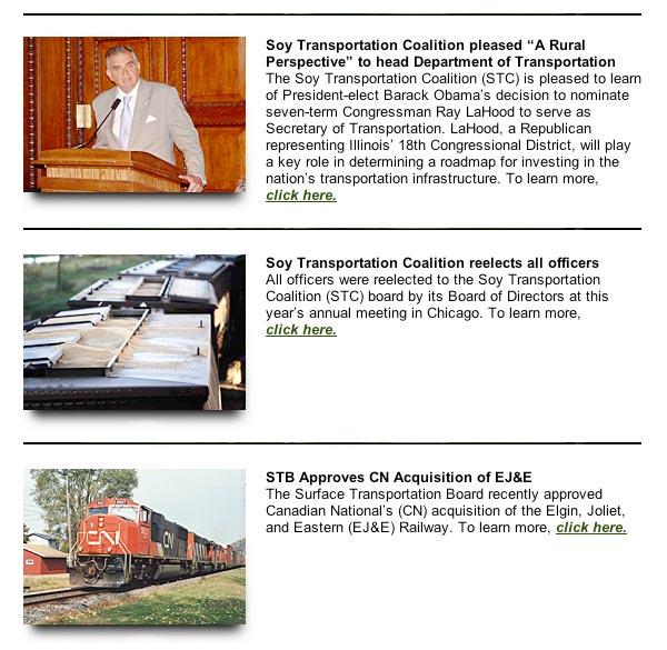 Soy Transportation Coalition eNews, January 2009