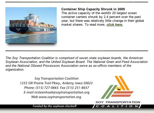 January 2010 Soy Transportation Coalition eNews