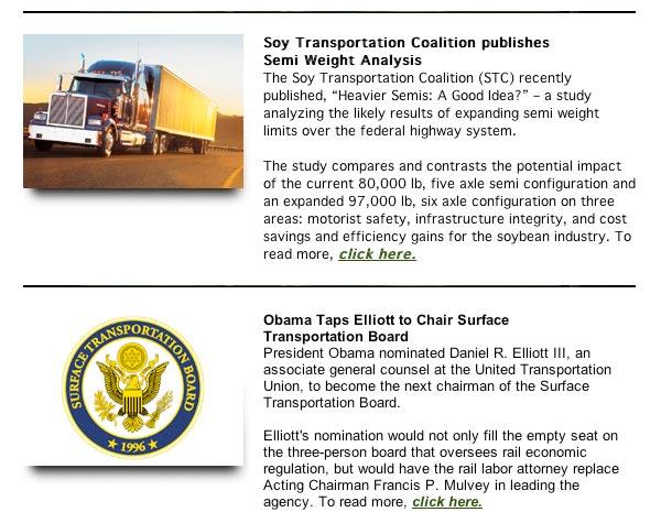 Soy Transportation Coalition eNews