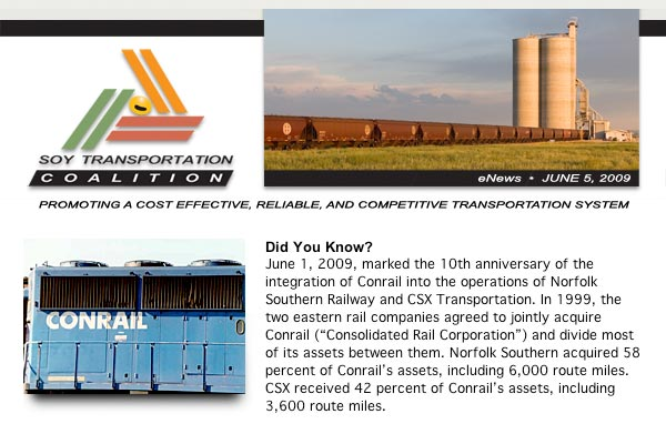 June 2009 Soy Transportation Coalition eNews