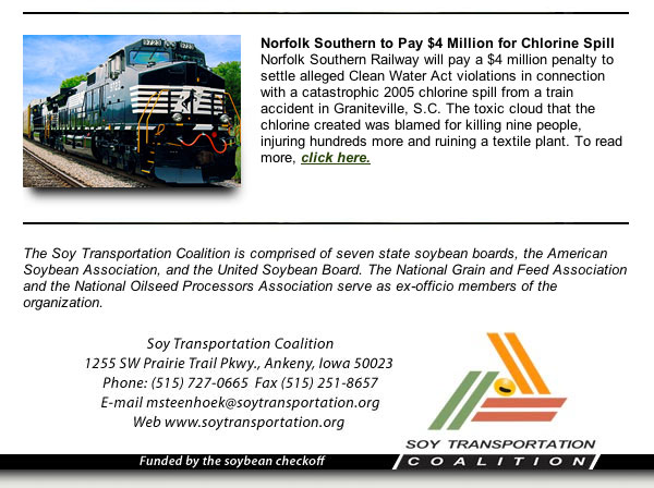 March Soy Transportation Coalition eNewsletter