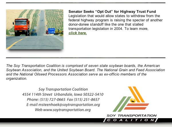 May 4, 2009 Soy Transportation Coalition eNews