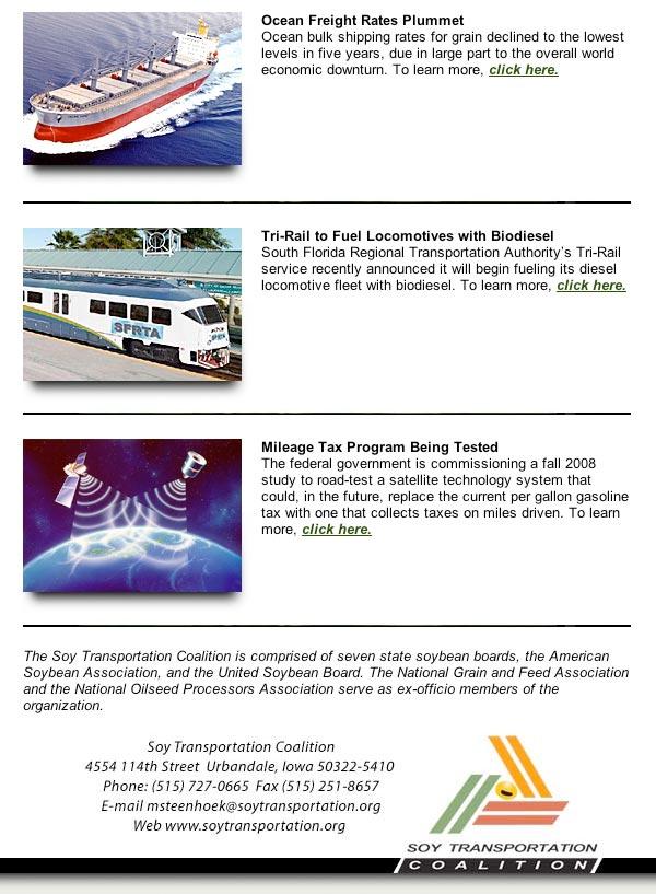 November Soy Transportation Coalition eNews