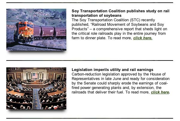 October 2, 2009 Soy Transportation Coaliltion eNews